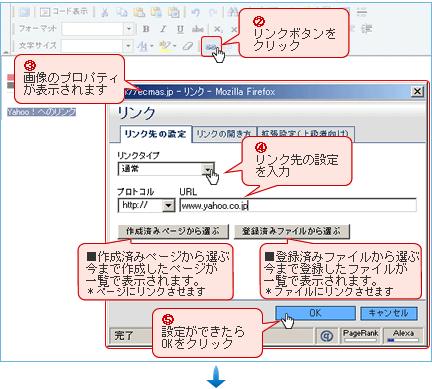 リンク設定方法説明図